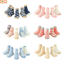 5 pairs/lot Children cotton socks Boy,girl,Baby,Infant Keep warm stripe Dots fashion Sport's Socks Autumn/Winter Kids gifts CN(China)