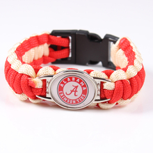 Alabama Crimson Tide Custom Paracord Bracelet NCAA Football Bracelet Survival Bracelet ,Drop Shipping ,19 Color Can Choose