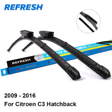 "REFRESH Wiper Blades for Citroen C3 Hatchback 24""&16"" Fit Bayonet Arms 2009 2010 2011 2012 2013 2014 2015 2016(China)"