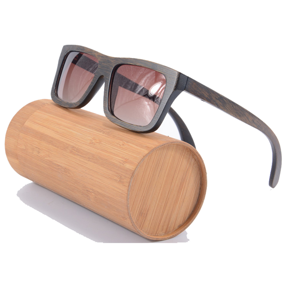 New wood sunglasses bamboo gradient brown lense big square polarized sunglasses men brand designer eyewear with box z6010<br><br>Aliexpress