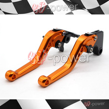 For KAWASAKI ZZR 1100/1200 ZRX 1100/1200 ZX7R ZX900 motorcycle accessories CNC billet aluminum short brake clutch lever Orange