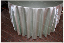 "120"" Round Mint Green (NO.97) Satin Tablecloth/Table Cover/Chair Cover/Chair Sash For Wedding Party Hotel Banquet Decorations"
