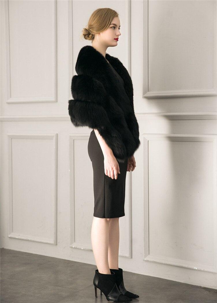 2018 Hcyo Korean version of the imitation of rabbit fur shawl imitation water mane fur grass cloak vest women's coat (4)