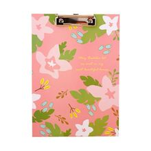 Affordable Kawaii Pink Flowers Folder Writing Pad Board Practical Paper Document Clip Board Office and School Stationery Supply(China)
