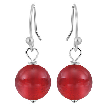 Natural Stone Hook Earring Three Color Selectable Ball Earrings for Women Earring Piercing Bohemia Style Earring Lady