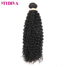 Mydiva Hair Store Mongolian Kinky Curly Weave Human Hair Bundles 100% Non Remy Hair Extensions Can Buy 3/4 pcs Can Be Dyed(China)