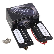 Yibuy 2pcs Humbucker Double Coil Electric Guitar Pickups one black one white