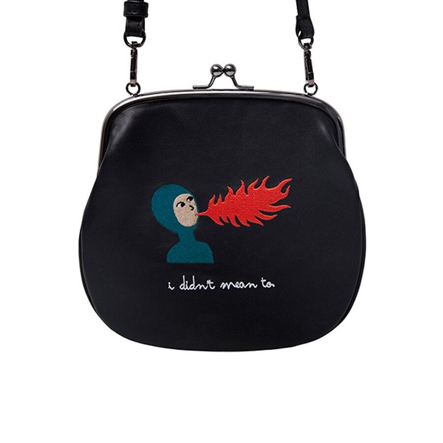 YIZI PU leather messenger bags with metal hasp in little tiger series [FUN KIK]<br>