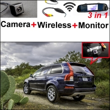 For Volvo XC90 3 in1 Special Rear View Wifi Camera + Wireless Receiver + Mirror Monitor Easy DIY Parking System