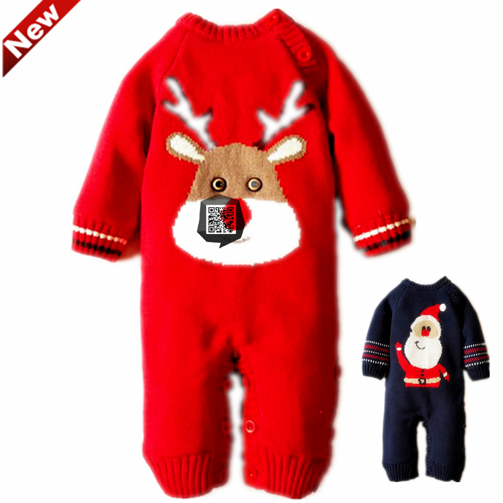 Christmas Overalls Childrens Winter Newborn Romper Baby Boy Clothes New Years Costumes For Boys Baby Girls Clothing 3-6motnths<br>