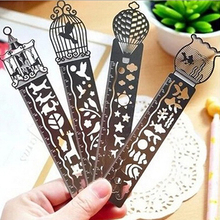 Cute Bird Cartoon Hollow Metric Engraved Scale Bookmark Pocket Rulers