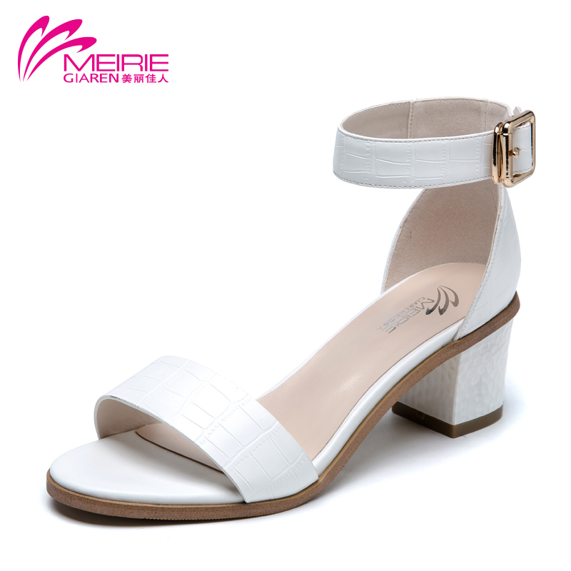 MeiRies 2017 Women Summer Shoes Pink/Blue/White 3 Colors Fashion Summer Womens Sandals Women High heels shoes Free shipping<br>