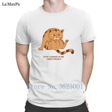 Designer O-Neck T-Shirt Man Stop Looking At Me I Need Privacy Tshirt Standard Quirky Men T Shirt Male Nice Tee Top(China)
