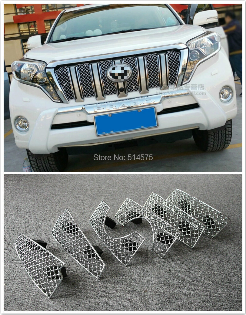 Front Grille Grill Bezel Honeycomb Mesh Cover For Toyota Prado FJ150 2014 2015<br><br>Aliexpress