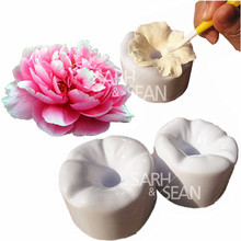 T0066 Decorative Peony Flower Petals Making-Up Tools Fondant Cake Molds for the Kitchen Baking Decorations 2pcs/set