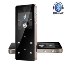 Newest Touch Screen Bluetooth HIFI 8G MP4 Player MP3 Anti-fall with FM Radio Recording Pedometer Supports TF card up to 128GB(China)