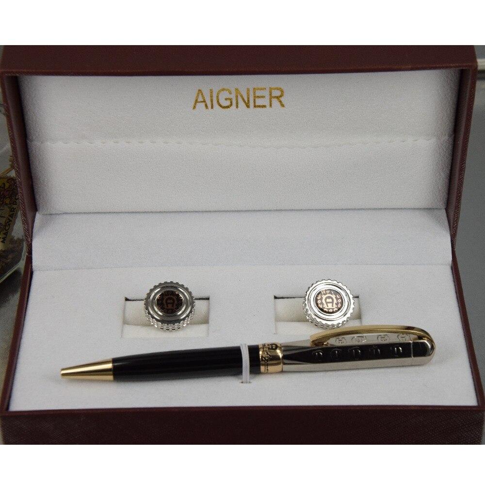 Free shippin ! ! Aigner Carving Logo A ballpoint pen Bending Clip Series Black Silver Golden Clip Box Cuff<br><br>Aliexpress