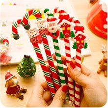 Christmas Snowman soft ceramic ball pen Cartoon Christmas Santa Claus Crutches style 0.7mm ballpoint office school supplies
