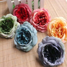 NYAC 12PCS,11CM Head,Artificial Silk Hibiscus,Fake Peony,Roses Heads,DIY Bouquet Home Decoration,Wreath,Garland,Wrist Corsage(China)