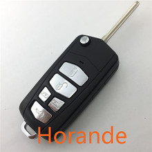 Folding Car Key Replacement Key For Kia 5 Button Flip Entry Remote Key Case Cover Fob