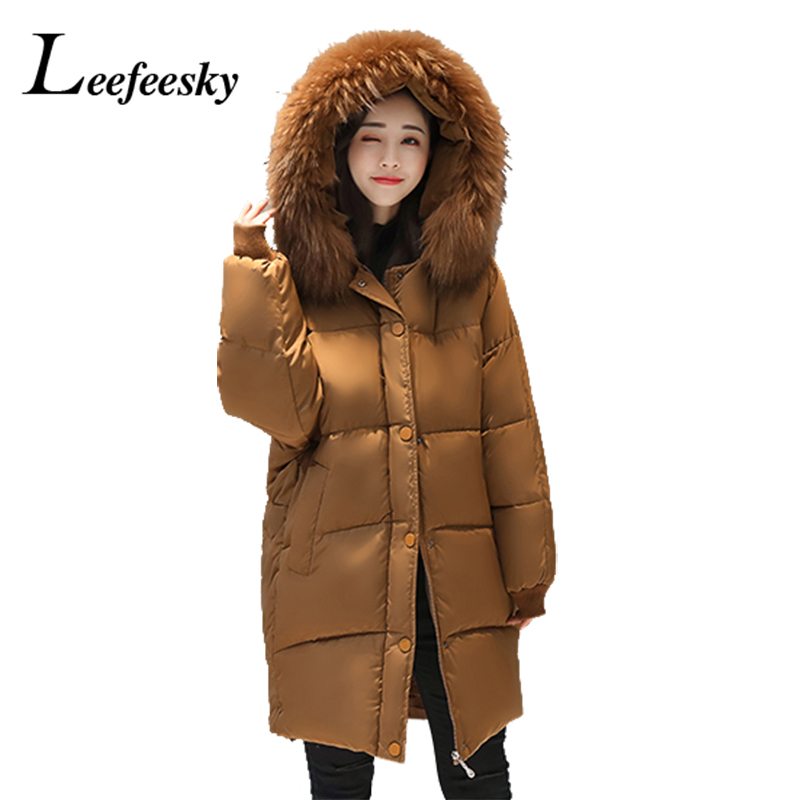 2017 Winter Jacket Coats Women Hooded Faux Fur Collar Thicken Warm Long Cotton Parka Outerwear Parkas Ladies Chaqueta FemininoÎäåæäà è àêñåññóàðû<br><br>