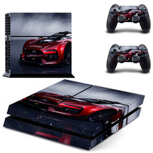 Colorskin Stickers Sport Car Vinyl Decal PS4 Skin Wrap for Sony PlayStation 4 Console and 2 Controllers Decorative Skins