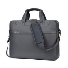 Laptop bag 15 inch Waterproof computer bags for Women and Man Portable Shoulder tablet Notebook bag (Gray)