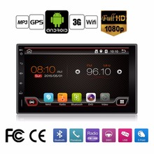 In Dash Universal Double 2 Din Pure Android Car No-DVD player GPS+Wifi+Bluetooth+Radio+1GHZ CPU+DDR3+Touch Screen+car pc+aduio(China)