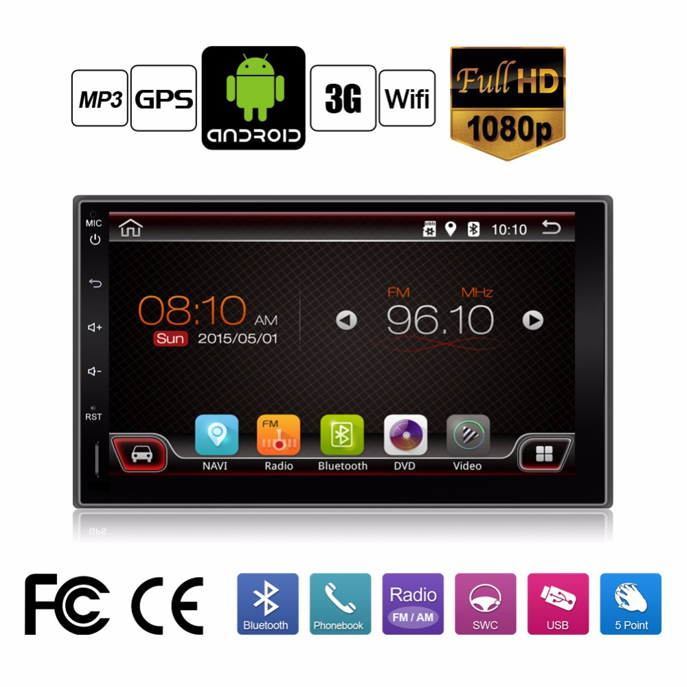 In Dash Universal Double 2 Din Pure Android Car No-DVD player GPS+Wifi+Bluetooth+Radio+1GHZ CPU+DDR3+Touch Screen+car pc+aduio(China (Mainland))