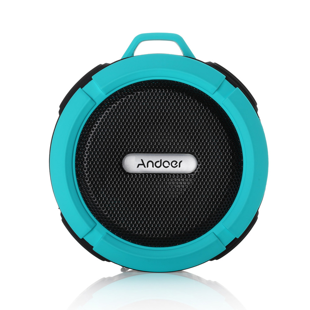 Andoer Outdoor Stereo Wireless Bluetooth Speaker Sub-woof 5W Soundbox Speakerphone Micphone Hands-free Waterproof Travel Cycling(China (Mainland))