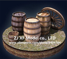 NIDALE model Classical ancient ship model cask kit wooden brandy cask buckets 2 pcs/lot Free shipping(China)