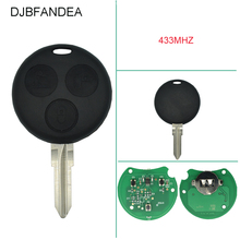 3 Button Remote Car Key Mercedes Benz Key Smart Fortwo 450 Forfour Roadster Chiave 433MHz Remote Auto Key Fob Blade