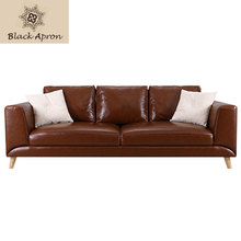 Brown 3 Seaters Modern Sofas Sets Furnitures Living Room Muebles Sofa Sets Sectional Sofas Home Furniture S36-1(China)