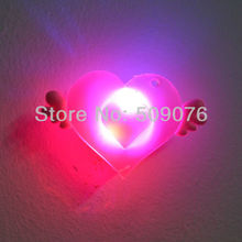 Free shipping 15pcs/lot 3pcs light soft rubber LED badge brooch led brooch pin with Angel wings for birthday party kids