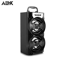 ALBK 279BT Wireless Bluetooth Speaker Portable Stereo LoudSpeaker with LED Lighting Effects Support TF Crad USB FM for Phone PC