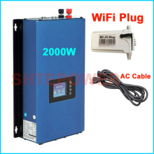 2000W MPPT Solar Grid Tie Inverter DC 45-90v AC 220V 230V 240V with wifi Plug and Battery Discharge Power Mode 2KW(China)