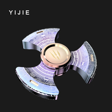 YIJIE TripleSpinner Fidget spinner Toy metal Hand Spinner For Autism And ADHD Children Adults Focus Rotation Time Long(China)