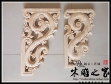 Dongyang wood carving antique wood Temple carved corbels Home Furnishing gun angle beam gun flower stigma partition lintel(China)