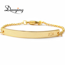 DUOYING Brand Baby Bar Bracelet Custom Engraved Name Bracelet Personalized Initial Bracelet For Baby Etsy eBay Supplier