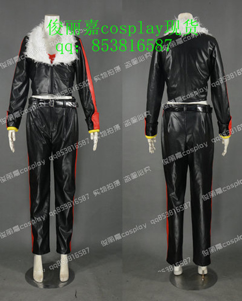 Mobius Encyclopaedia Sonic the Hedgehog Black Uniform Outfit Cosplay Costume J001