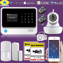 Golden Security G90B WiFi 2G GSM WCDMA WiFi Alarm System Home Security Alarm System Kit 720P WiFi IP Camera(China)
