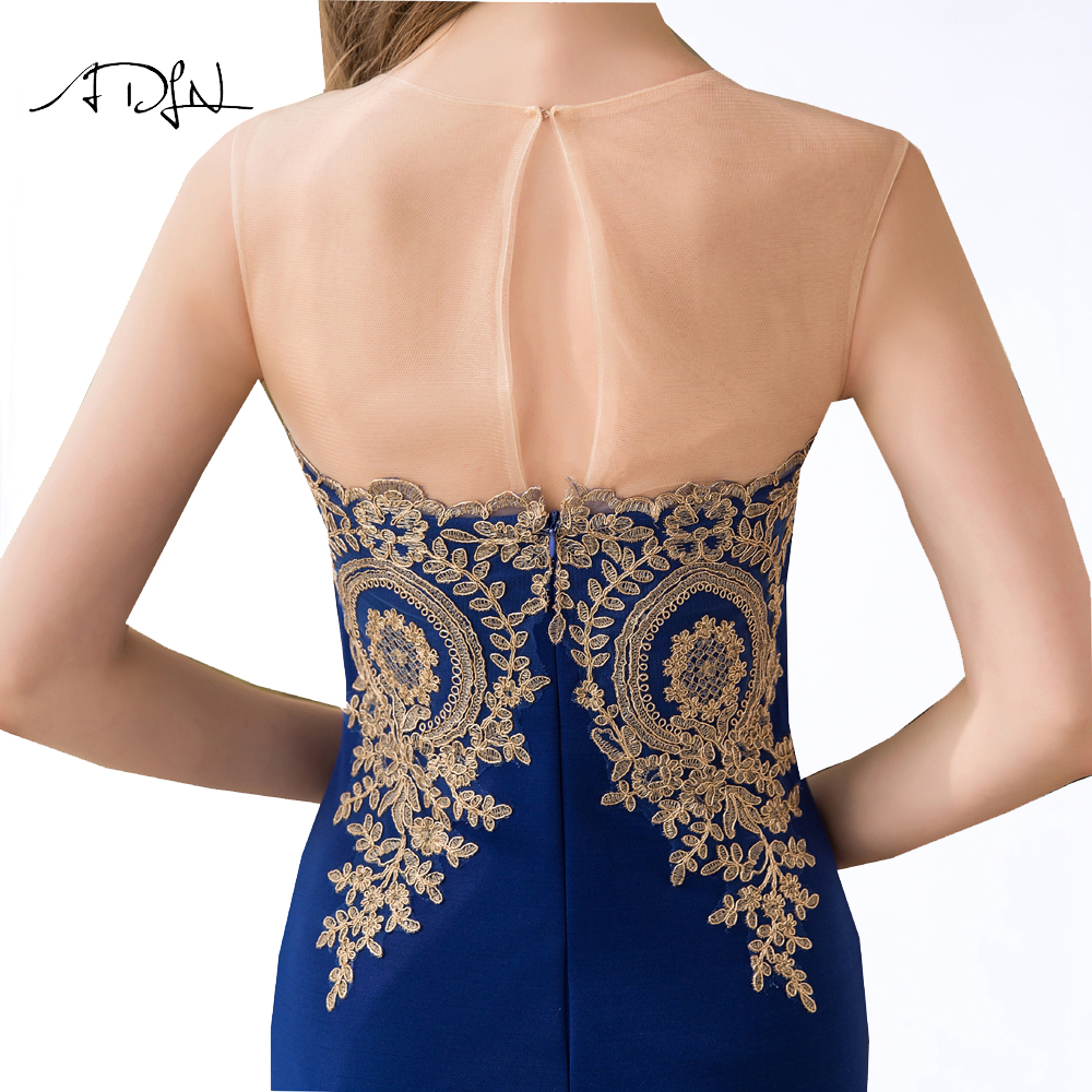 ADLN 2017 Stock Mermaid Evening Dresses Long Formal Royal Blue Party Gowns Cheap Prom Wear robe de soiree longue 11