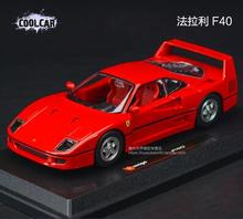 New F40 250 GTO 1:24 Bburago enzo sports car model alloy Italy Red Classic models Fast & Furious simulation kids toy gift boy