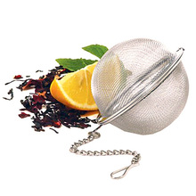 New Stainless Steel Mini Tea Ball Infuser Filter Tea Bags Loose Tea Leaves Strainer D1(China)