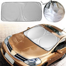 Car Sun shade Sunshade Front Rear Window Film Double Circle Windshield Cover UV Protector Reflector Sunscreen Shadow 150*70cm(China)
