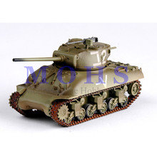 EASY MODEL 36250 1/72 Assembled Model Scale Finished Model Scale Miniature Military Scale Tank M4A1 (76) w-Israeli(China)