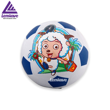 Children's Rubber Football Ball Size 3 Plesant Goat and Big Big Wolf Kids Soccer Ball Free Shipping(China)