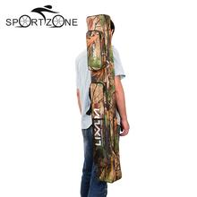 Two Layer Camouflage Long Fishing Tackle Rod Lures Bag Fishing Hand Shoulder Bags Multi-usage 120/150cm Large Capacity(China)