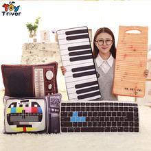 Creative Plush TV Radio Piano Keyboard Washboard Toy Pillow Cushion Kids Children Birthday Gift Home Shop Restaurant Deco Triver(China)