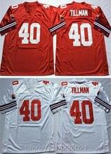 Mens 40 Pat Tillman Embroidered Throwback Football Jersey Size M-XXXL(China) baf5a9b1d